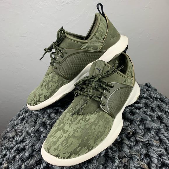 Puma Shoes - Women's Puma olive soft foam sneakers sz 8